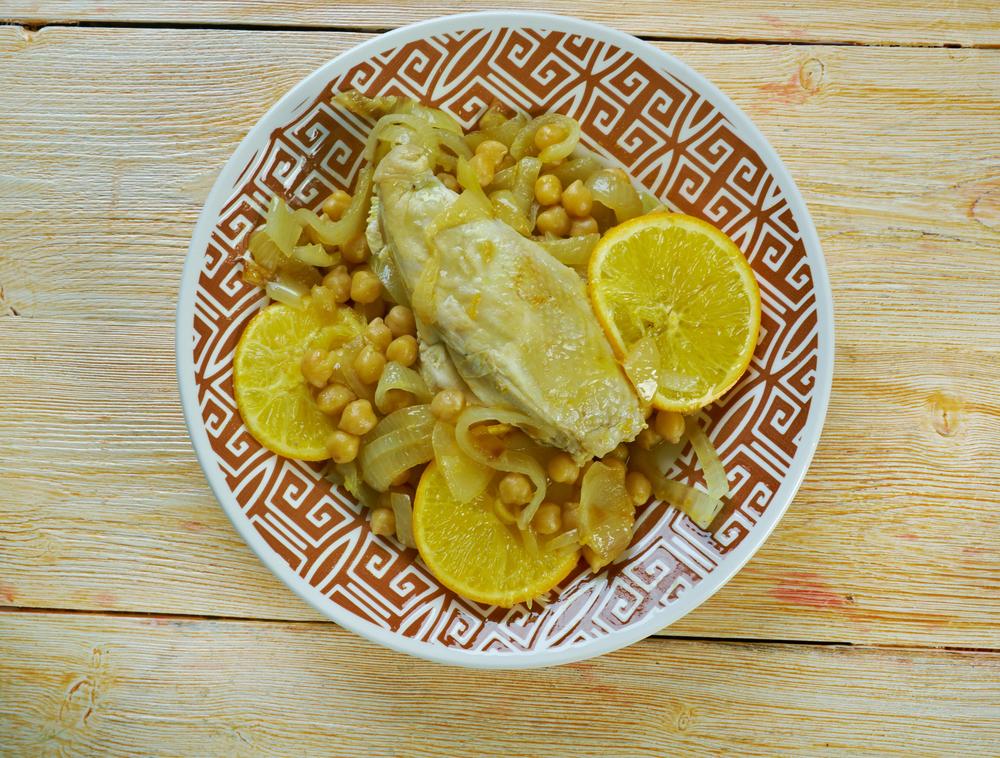 Tunisie - Cuisine tunisienne - Poulet Mehshi - Rôti de poulet tunisien